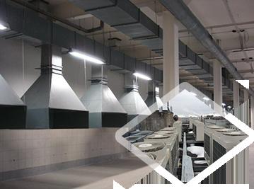 Кондиционирование и вентиляция в произвосдтвенных цехах, на складах, в торговых центрах